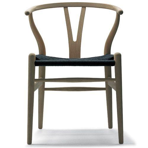 Hans Wegner CH24 Wishbone Chair in Oak Soap with Black Papercord Seat | Stardust