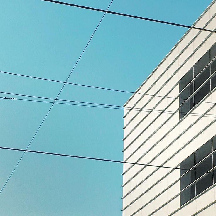 Black lines on blue and white #rsa_minimal #minimal #minimalmood #architecture #igersmilano #igerslombardia #igersitalia
