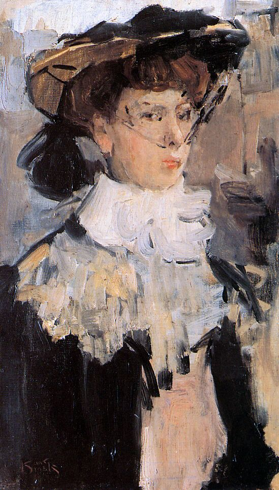 Young woman with Hat ~ Isaac Lazarus Israels ~ (Dutch, 1865-1934)