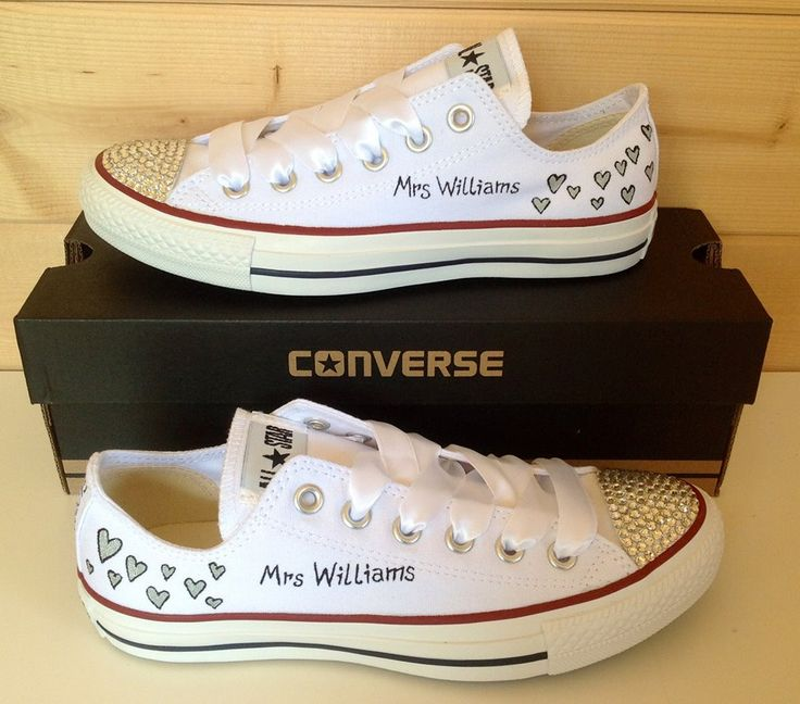 c5d8b6af59bd10 bridesmaid converse youth. wedding converse bride sneakers swarovski ...