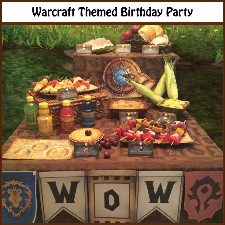 Throw a party to celebrate the release of the new World of Warcraft movie! Purchase party supplies as an instant download here: https://www.etsy.com/listing/292084423/sale-world-of-warcraft-themed-party?ref=shop_home_active_1