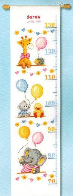 Baby Shower Growth Chart - Cross Stitch Kit