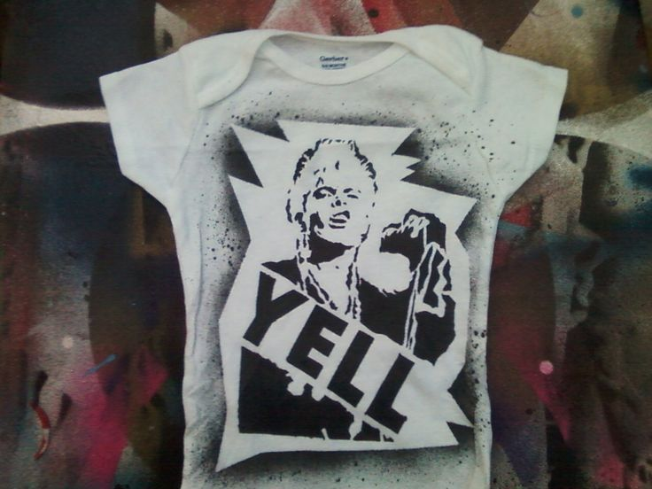 80s punk baby Billy Idol Rebel Yell bodysuit infant creeper crawler snapsuit onepiece by rainbowalternative on Etsy https://www.etsy.com/listing/121145969/80s-punk-baby-billy-idol-rebel-yell