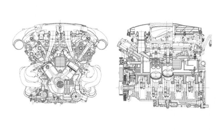 McLaren P1 cutaway Pinterest – Lfa Engine Diagram