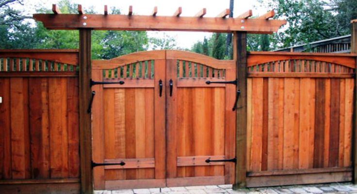 The 25 best backyard gates ideas on pinterest building for Double garden gate designs