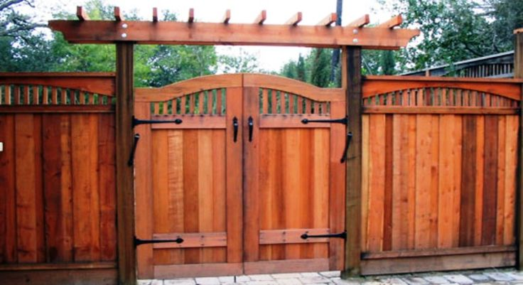custom wood fence gates