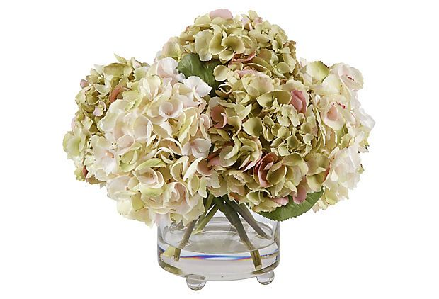 "15"" Hydrangea in Vase, Cream on OneKingsLane.com"