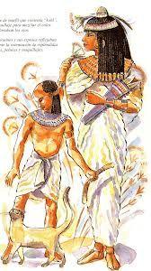 Luego de que los tejidos llegaran a egipto su tela podria considerarse un tejido fino ligero, que nuca resulta pesado ni calido, al principio el hilo se hacia con fibras vegetales
