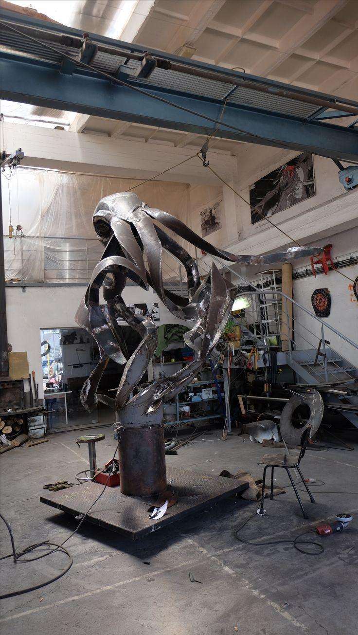Giant steel Octopus