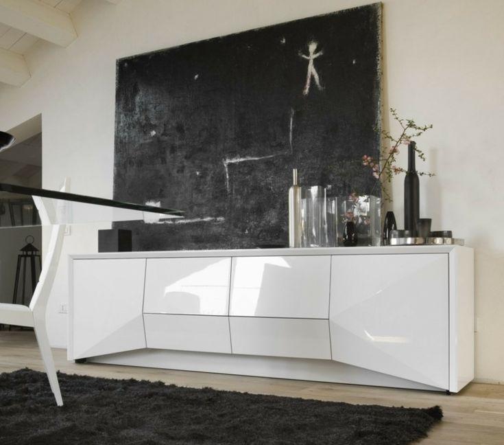 Elegant Sideboard Mit Hochglanz Fronten Und Grifflosen Türen   Möbel Ideen    Pinterest   Hochglanz, Türen Und Möbel