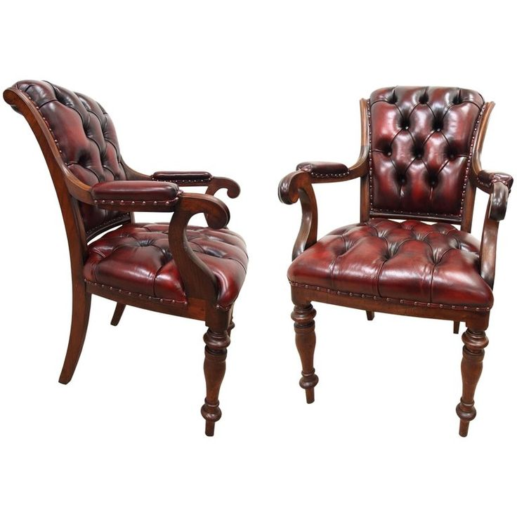 Pair Of William Iv Mahogany Library Chairs With Images Dining Room Chairs Modern Leather Dining Room Chairs Library Chair
