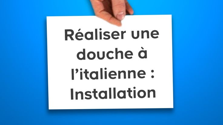 1420 best bricolage images on pinterest bricolage art paintings and bathroom furniture - Installer une douche italienne ...