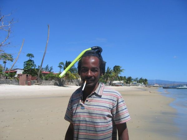 Fisherman on Ramena Beach