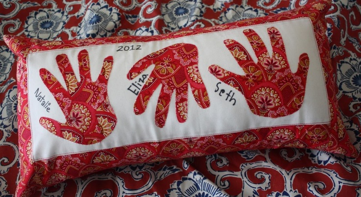 Mother's Day gifts for the Nana's (hand print pillow)