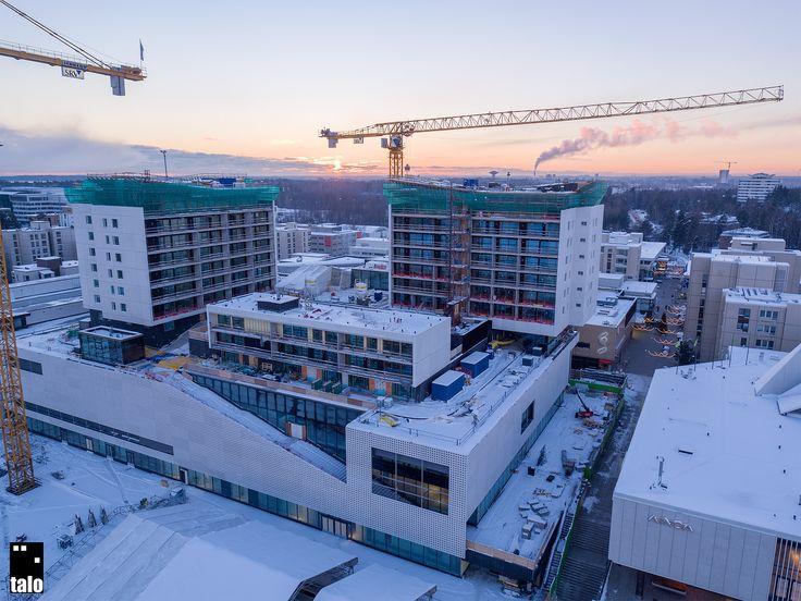 Tapiola Center under construction. Espoo, Finland