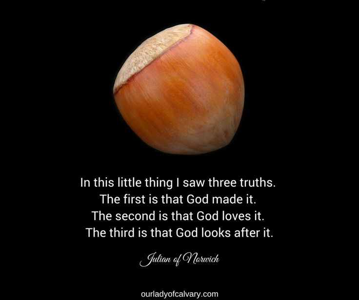 JULIAN OF NORWICH: The Hazelnut