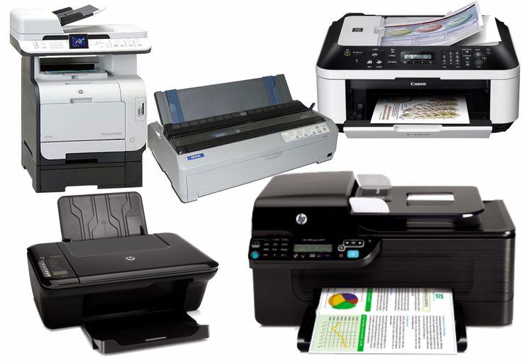 Impresoras matriciales, tinta continua, laser