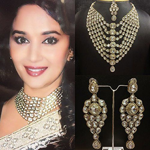Beautiful Indian Bollywood Madhuri Dixit Style Gold Plate... https://www.amazon.ca/dp/B01M2U79PQ/ref=cm_sw_r_pi_dp_x_Pu6Wyb5T47ZN7