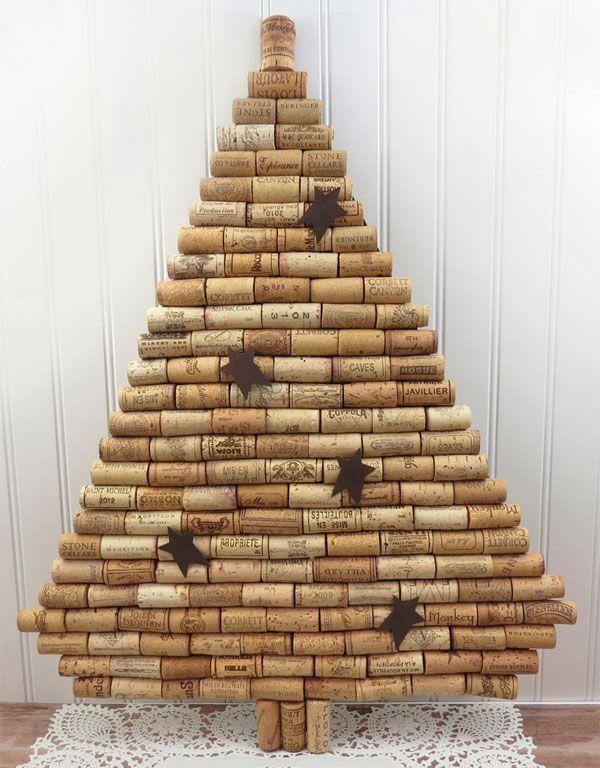 Albero di Natale con tappi di sughero n.16