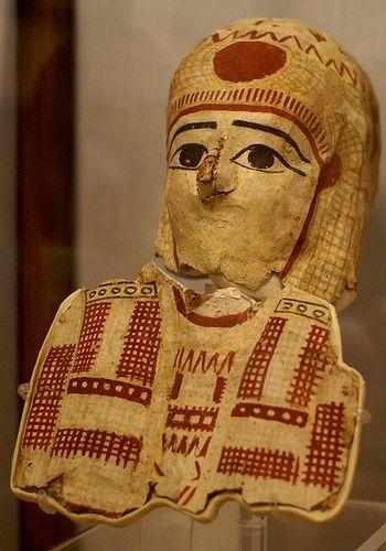 Torino, Museo Egizio, Mumienmaske aus Papyruskarton (mummy mask of papyrus cartonnage)