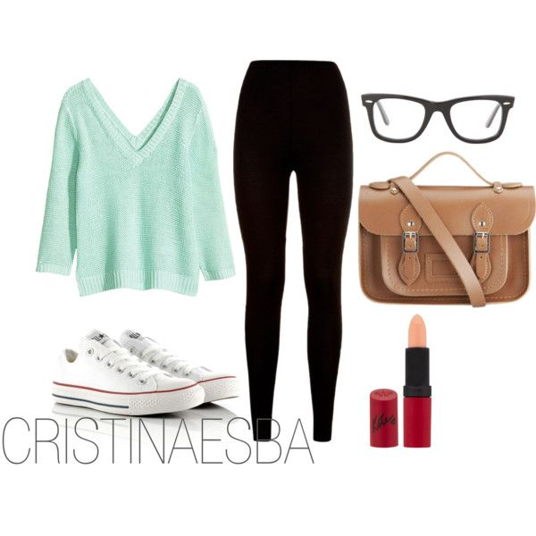 """Comfortable mint"" by cristinaesba on Polyvore"