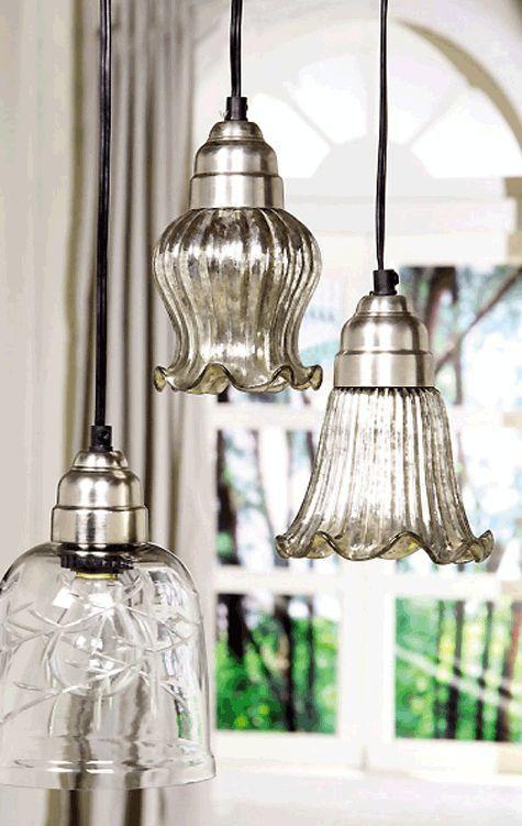 Mercury Glass Light Pendants:
