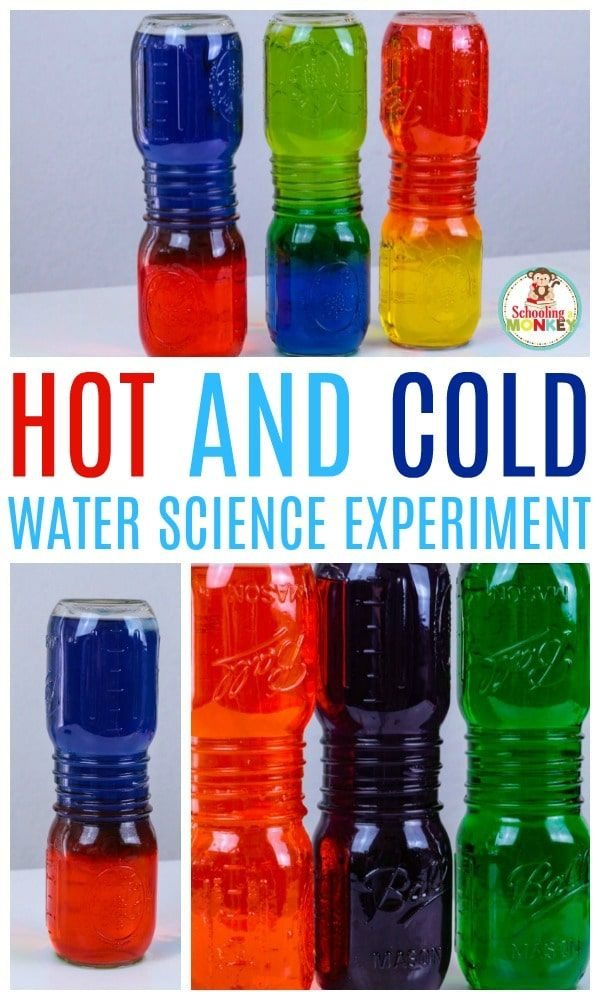 Learn about water density, energy, how molecules work, and more in this super fun and easy hot and cold water density science experiment! Kids will be delighted with how fun it is, and the bright colors will many any kid interested in science! It's the perfect STEM activity for the classroom or home. #science #stem #stemed #scienceclass #scienceexperiment #elementary #kidsactivities #learningactivities #teachingideas