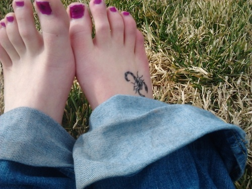 Yeah...a scorpion kinda like this on my foot