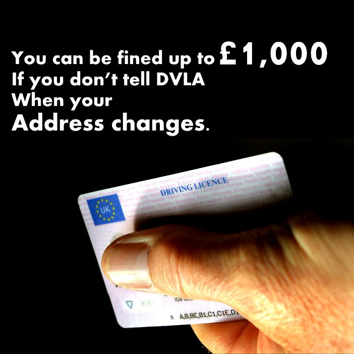 You must tell DVLA when your address changes so your #driving licence, vehicle registration and vehicle tax are up to date. It doesn't cost anything to change your #address with #DVLA. A failure to do so, you can be fined up to £1,000 and a six penalty points being imposed on your #licence.