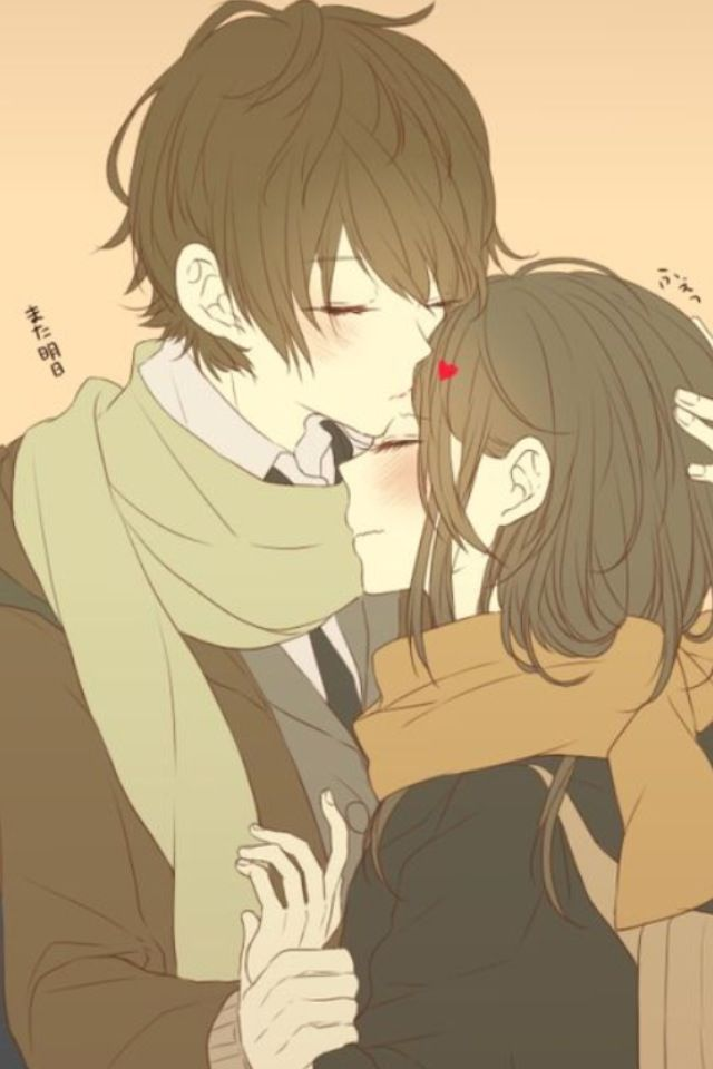 Anime couples are always cute. Sara :D