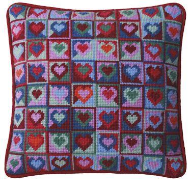 Mosaic Hearts Tapestry Kit