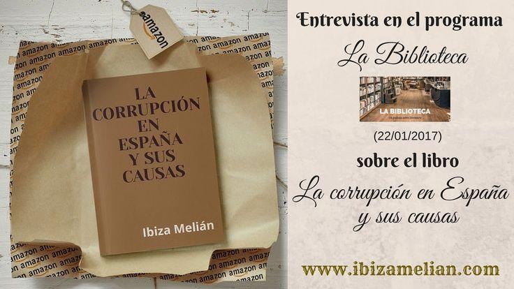 Entrevista a Ibiza Melián en el programa La Biblioteca (22/01/2017)