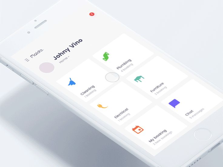 Maids - House Mainatance app concept