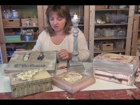 Tutorial Shabby Chic Paste - YouTube