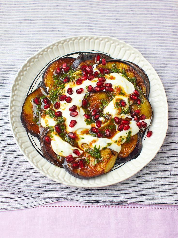 Aubergine & Pomegranate Salad | Vegetable Recipes | Jamie Oliver