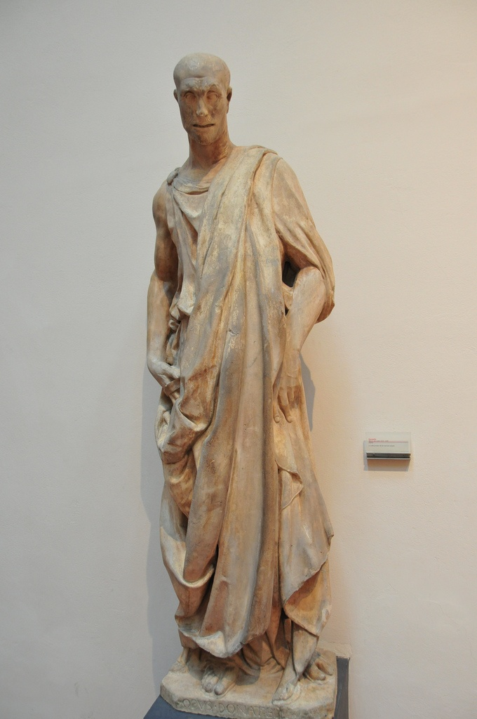 Donatello, Prophet Habakuk als known as Lo Zuccone. Impressive and strong realistic sculpture.