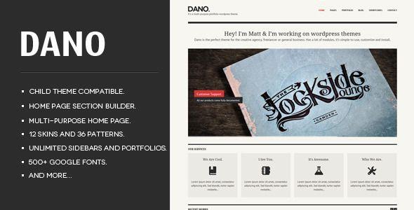 Dano Multi-purpose & Responsive WordPress Theme  - Portfolio Creative