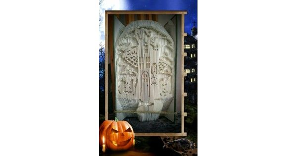 Book Folding Patterns / Templates and Book Folding Software - Halloween - Ghost House - Name: Ghost HouseNo.Book Folding Patterns / Templates and Book Folding Software - All Patterns - Ghost House - Name: Ghost HouseNo.