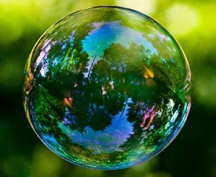 love the colors of a bubble!
