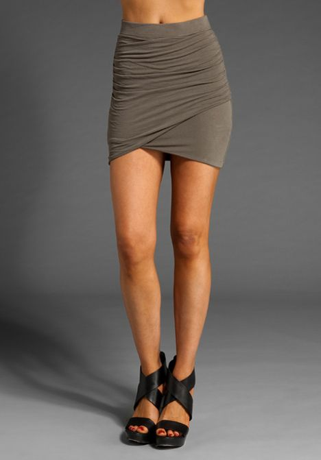 Twisted Wrap Mini Skirt- Mila Kunis wears this on Friends with ...