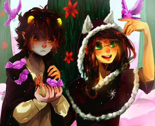 Karkat and Jade - based off that one scene from Beauty and the Beast  - this is so cool!