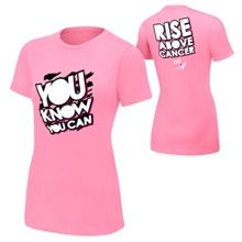 """Dolph Ziggler """"Rise Above Cancer"""" Pink Women's Authentic T-Shirt- medium #WWE"""