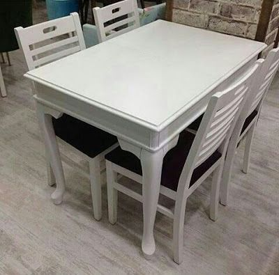 Mebel dan Furniture Jepara: Dinning Table Duco White