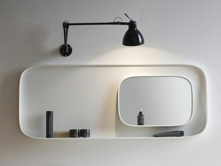 oval bathroom mirror | fonte collection | from rexa design.
