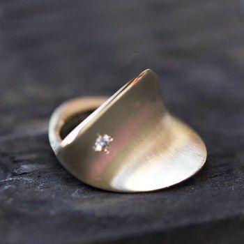Bague Feuille Bronze/Ordiamant par Nathalie Dmitrovic pour l'Atelier des BIjoux Créateurs.