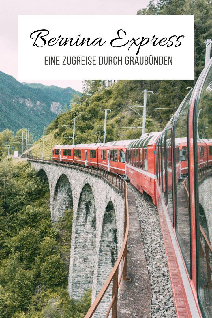 Alpenuberquerung Im Bernina Express Zugreise Durch Graubunden