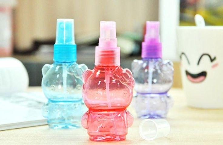 Пластиковые контейнеры для косметики милый медведь прозрачный пустая кукла небольшой бутылке с распылителем 50 мл пресс тип спрей бутылки дорожный набор