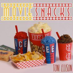 Toni Ellison: Movie Theater Snacks : How to Make Miniature Popcorn, Icee, Nachos, & Candy (Polymer Clay)
