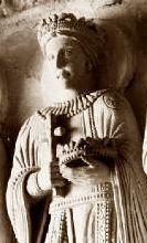 Alboin King of the Lombards (c. 530s-572) Interior of Tempietto Longobardo, Udine Italy