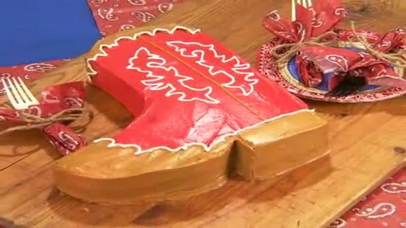 Watch Rodeo Roundup Boot Cake in the Better Homes and Gardens Video